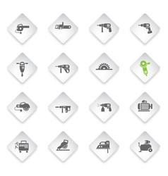 Machine tools icon set vector
