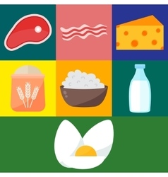 Milk products vector