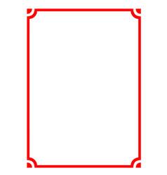 modern pattern frame board vector image