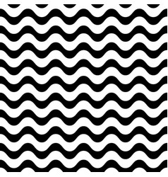 Monochrome seamless pattern simple wavy lines vector