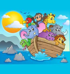 noahs ark theme image 2 vector image