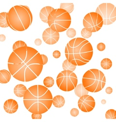Pattern with basketball vector