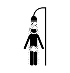 person showering icon image vector image