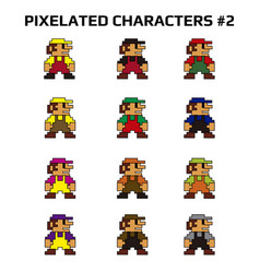 Pixelated characters 2 vector