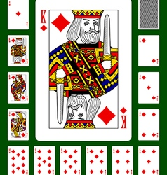 Playing cards of Diamonds suit vector