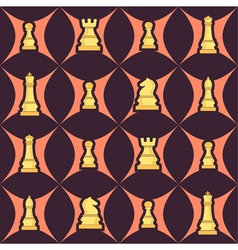 Seamless background with chess vector image