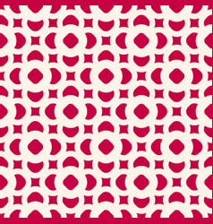 Seamless pattern in oriental style red and beige vector