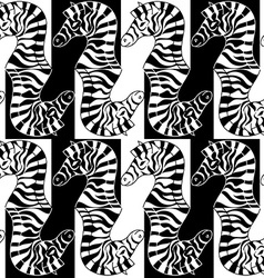 seamless pattern zebras vector image
