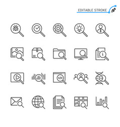 Search line icons vector