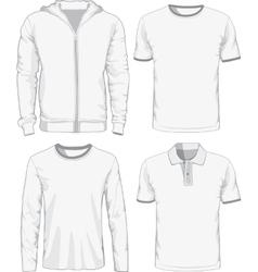 set male shirts vector image