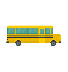 Side of school bus icon flat style vector