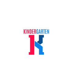 sign for kindergarten vector image