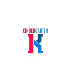 sign for kindergarten vector image