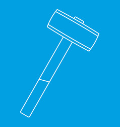 Sledgehammer icon outline vector