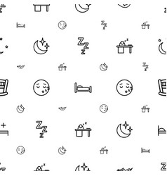 Sleep icons pattern seamless white background vector