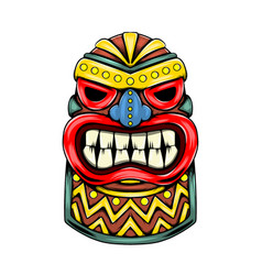 Statue inspiration from tiki island vector