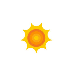 sun weather and season logo icon design vector image