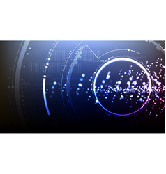technological abstract cyberspace technical light vector image