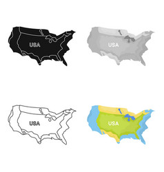 territory of the united states icon in cartoon vector image