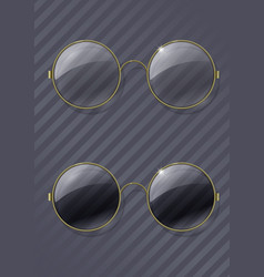 Vintage round glasses vector