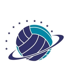 volleyball sport emblem icon vector image
