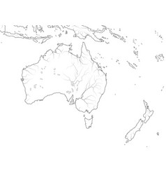 world map australia continent zealand oceania vector image