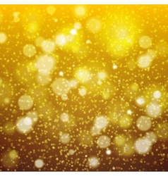 Christmas Golden Background bokeh effect defocused vector image