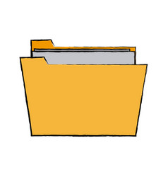 Folder file document paper information icon vector