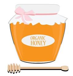 Honey spoon and pot vector