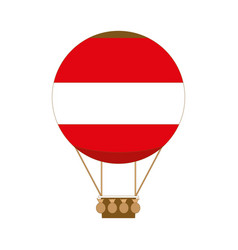 Hot air balloon app icon in flat style vector