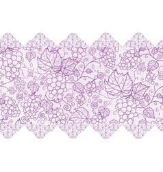 Purple lace grape vines horizontal seamless vector image