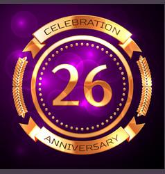 twenty six years anniversary celebration with vector image
