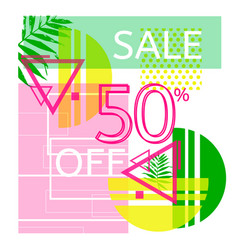 universal tropic style commercial banner vector image vector image