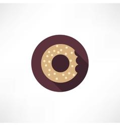 Bagel icon vector