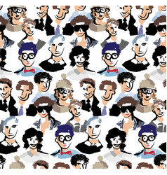 big group men color seamless pattern vector image vector image