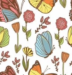 Honey Meadows seamless pattern vector image vector image