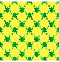 Seamless Frog Pattern Animal Background vector image vector image