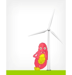 Windmill Concept vector image
