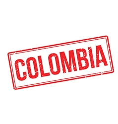 Colombia rubber stamp vector