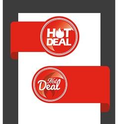 hot deal vector image