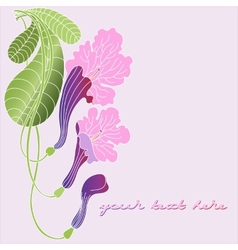 Leaflet with exotic flowers vector image