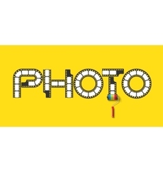 Lettering PHOTO vector image