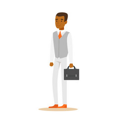 young confident african american businessman with vector image vector image