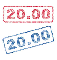 2000 textile stamps vector