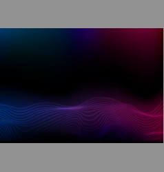 abstract futuristic blue purple wavy dotted lines vector image