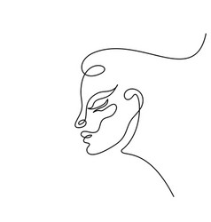 abstract woman face vector image
