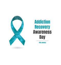 Addiction recovery awareness day january 11th vector