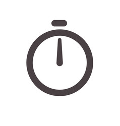 alarm clock arrow icon stopwatch timer clock vector image