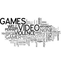 are video games good a non gamer s perspective vector image