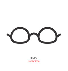 black glasses icon on white background vector image